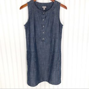 J. Jill Sleeveless Chambray Denim Dress Size Sm